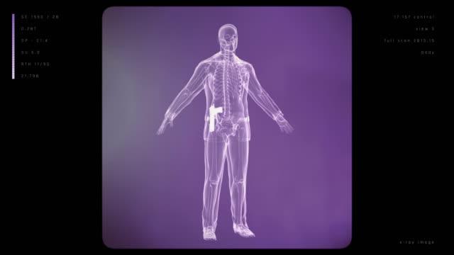 X-ray Mann mit Waffe | Endlos wiederholbar – Video