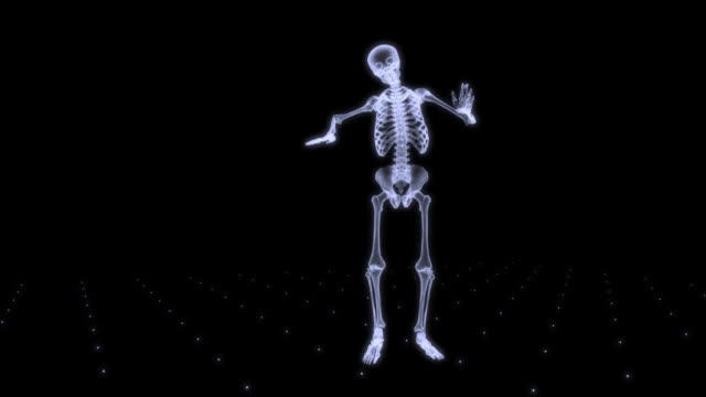 Xray skeleton dancing video