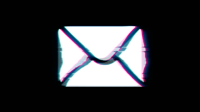 xxxxx Symbol on Glitch Retro Vintage Animation.
