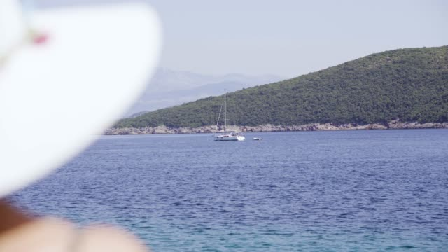 Yacht on the Adriatic sea video