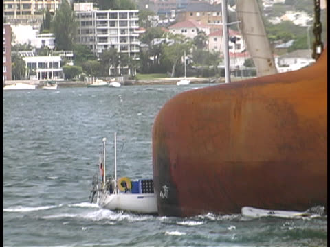 Yacht / Sailboat Hit By Ship video