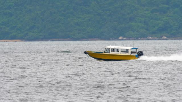 yacht/ speedboat on sea video
