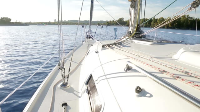 Yachting in the bay. video