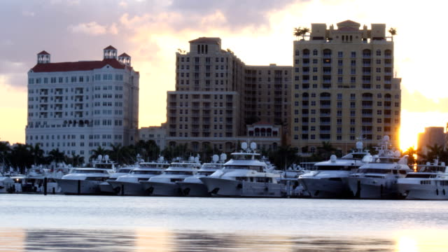 Yachts at Sunset video