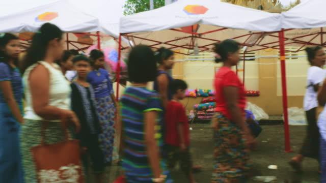 yangon market, myanmar - burma home do стоковые видео и кадры b-roll
