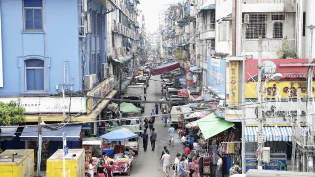 yangon market,myanmar. - burma home do стоковые видео и кадры b-roll
