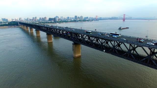 vídeos y material grabado en eventos de stock de puente del río yangtsé en wuhan hubei china - wuhan