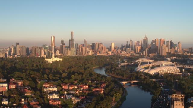 yarra river & melbourne city, victoria - melbourne stock videos & royalty-free footage