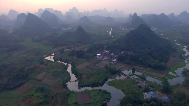 Yaungshuo County at Sunset video