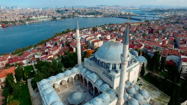 Yavuz Sultan Selim Mosque from sky, Istanbul Turkey Aerial view of The Yavuz Sultan Selim Mosque from sky, Istanbul Turkey istanbul stock videos & royalty-free footage
