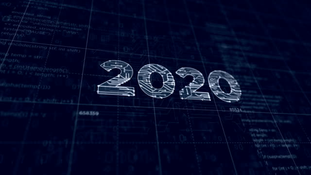 2020 year futuristic sketch 2020 year number project creating. Abstract concept 3d animation. Drawing digital scheme line of futuristic idea. 2020 stock videos & royalty-free footage