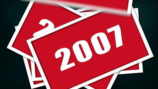 Years animation. 2004-2016 video