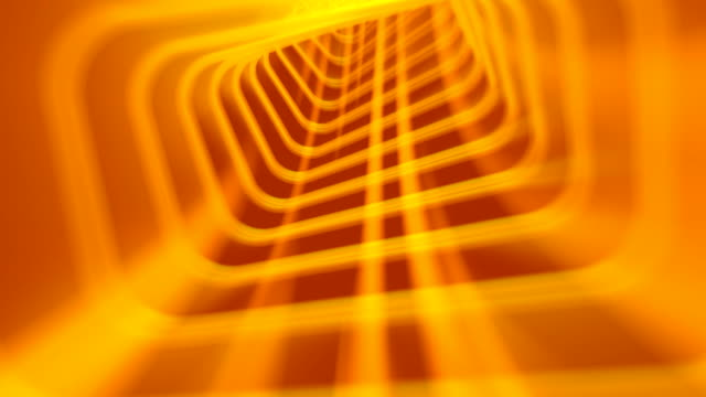 Yellow Abstract Tunnel Video BAckground HD1080 video