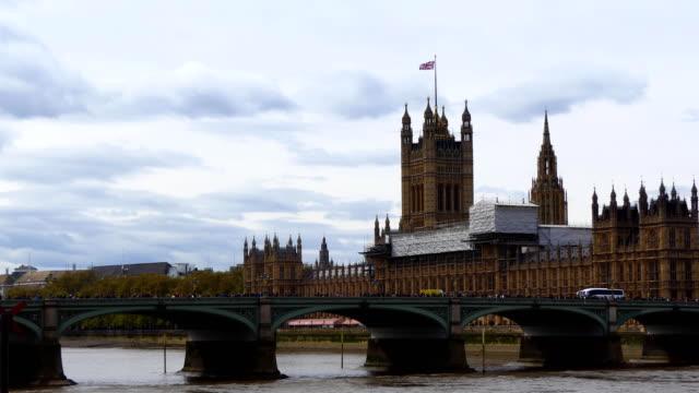 Yellow Ambulance van on Westminster Bridge video