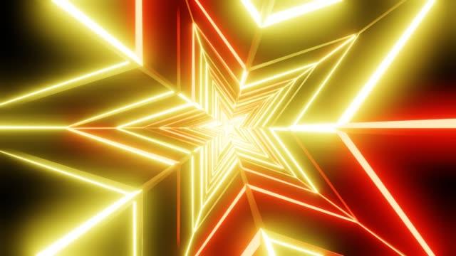Geel en oranje sterren abstract video