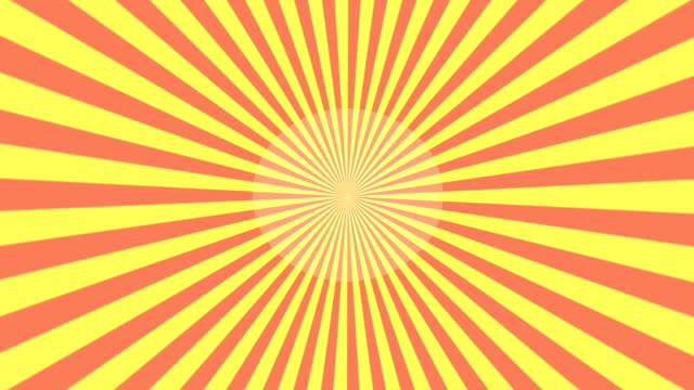 Yellow and red Starburst Sunray vector loop background. video
