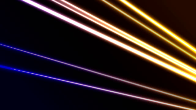 yellow and violet laser neon lines abstract motion background - vivid 4k video stock videos & royalty-free footage