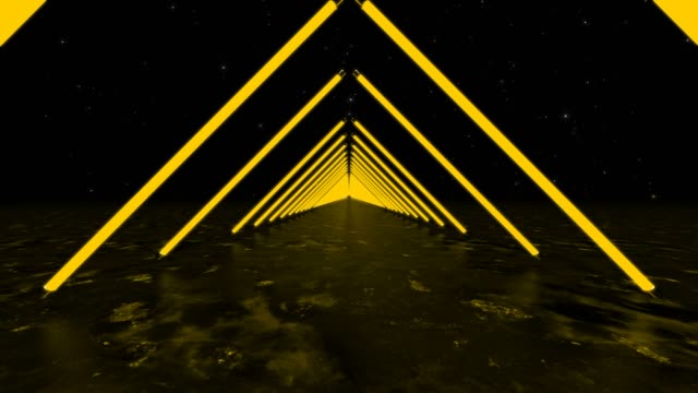 yellow background triangles - infinito video stock e b–roll