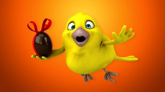 vídeos de stock, filmes e b-roll de yellow bird  - clip art