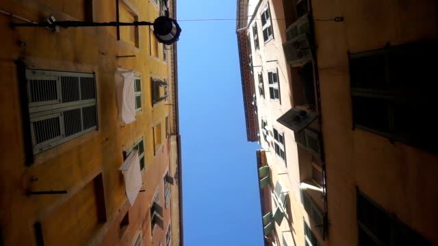 Yellow buildings in Nice, France video
