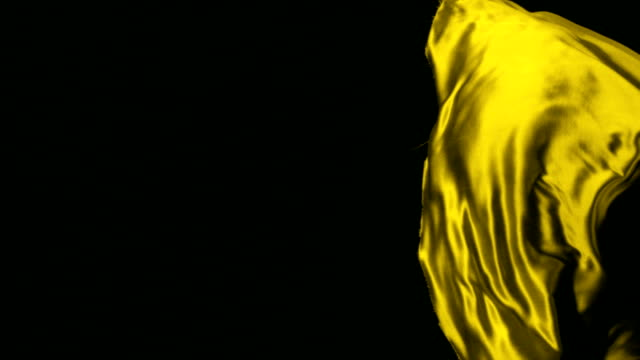 Yellow fabric, Slow Motion video