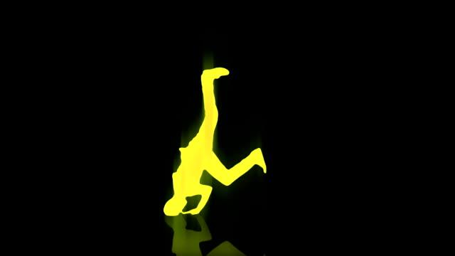 Yellow guy break dancing video