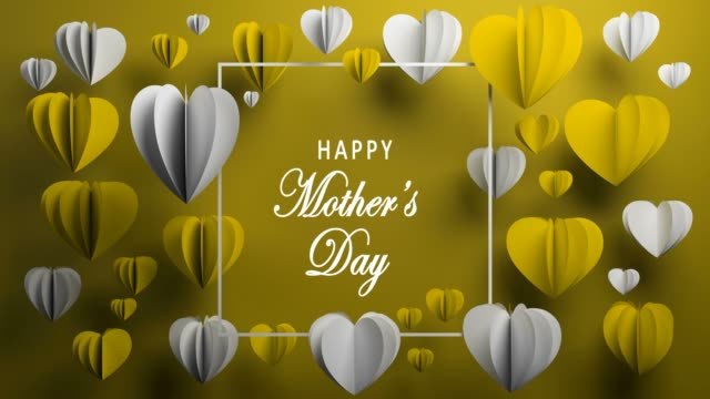 vidéos et rushes de fond jaune heureuse fête des mères - fête des mères