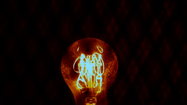 yellow light bulb with long filament video