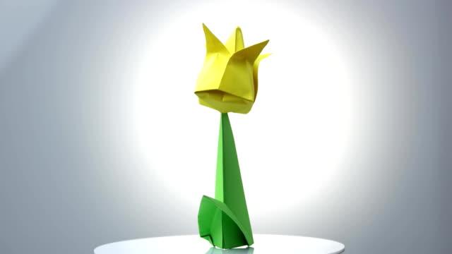 Origami Fleur Videos 4k Et Rushes Hd Istock