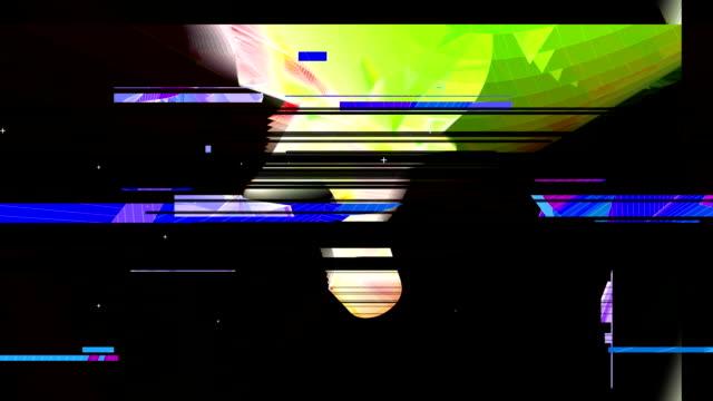 stockvideo's en b-roll-footage met yellow polygon primitive distortion - visuele hulpmiddelen