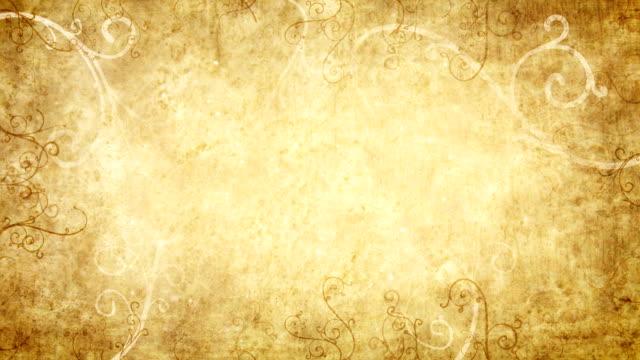 yellow retro flourishes frame loop background video