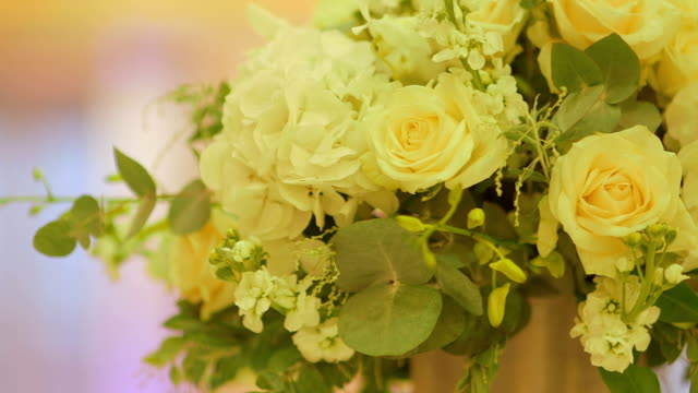 Yellow Roses On Wedding Day video