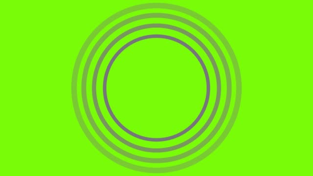 4K Yellow Sonar Circle Loopable with green screen