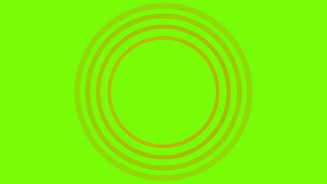 vidéos et rushes de 4k cercle sonar jaune loopable avec écran vert - épingle