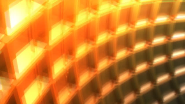 Yellow spinning grid video