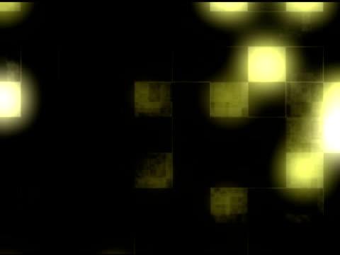 yellow square tech background - klip uzunluğu stok videoları ve detay görüntü çekimi