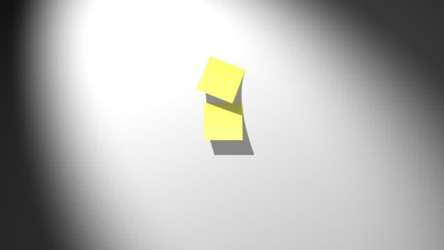 giallo sticky note di cadere - to do list video stock e b–roll