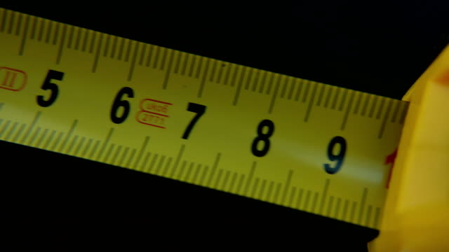 Yellow tape measure, slow motion video