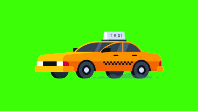 Yellow Taxi Rides. Transparent Background. video
