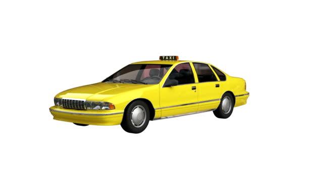 Taxi jaune spin avec luma matte - Vidéo