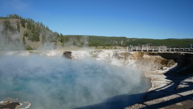 vidéos et rushes de parc national de yellowstone, wyoming, etats-unis - cirque