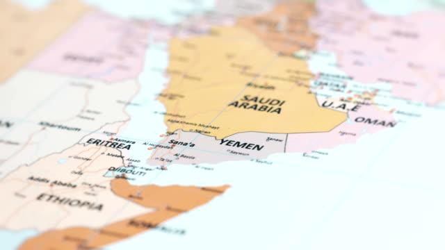 asia yemen on world map video