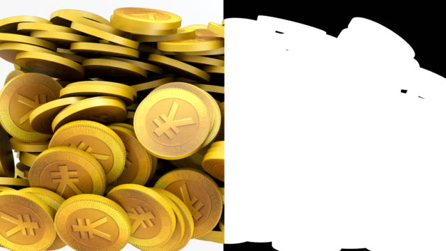 stockvideo's en b-roll-footage met yen munt lus-baar - yenteken