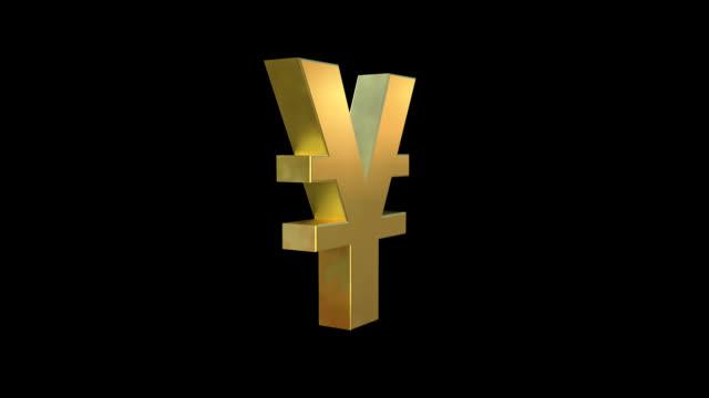 stockvideo's en b-roll-footage met yen symbool - yenteken