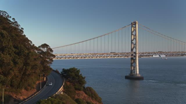 Yerba Buena Island and the San Francisco-Oakland Bay Bridge - Drone Shot video