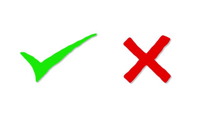 vídeos de stock, filmes e b-roll de sim ou não símbolos de marca de marcação animação - exatidão
