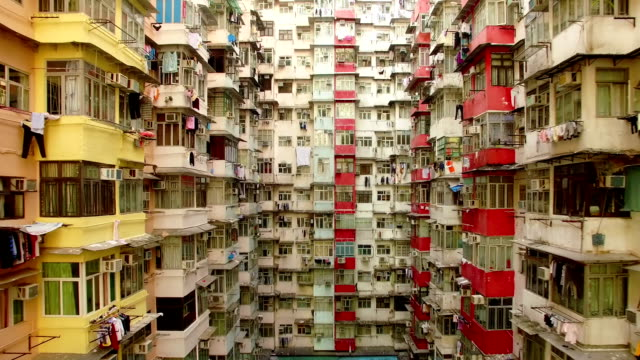 stockvideo's en b-roll-footage met yick cheong gebouwen, quarry bay, hongkong door drone - hongkong