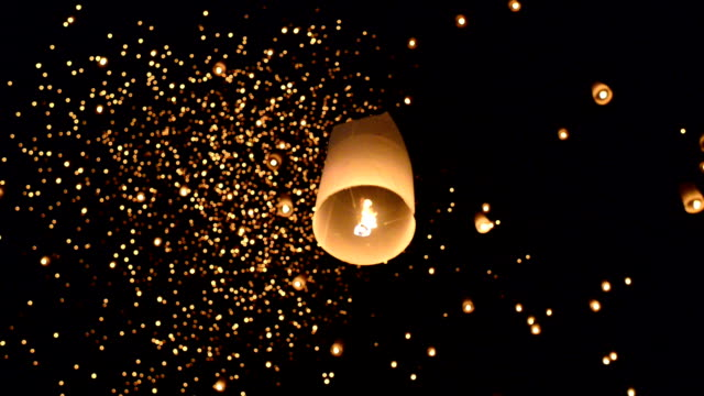 yii peng sky - sky lantern stock videos and b-roll footage
