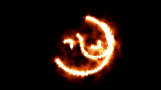 Yin and Yang Symbol Lighting up and Burning in Flames video