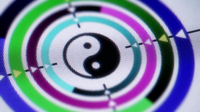 yin-yang - meditation icon stock-videos und b-roll-filmmaterial
